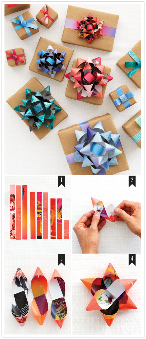 Как сделать подарочный бант из подарочной бумаги