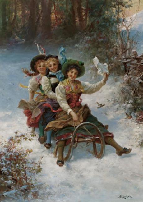 Шедевры живописи. Картины австрийского художника Ханса Зацка, фото № 26