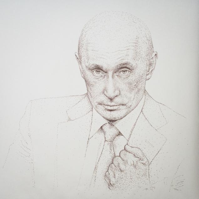 путин, графика, portrait, promarker