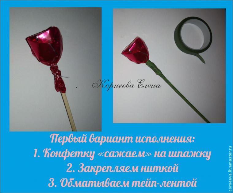 букет роз из конфет, подарок маме