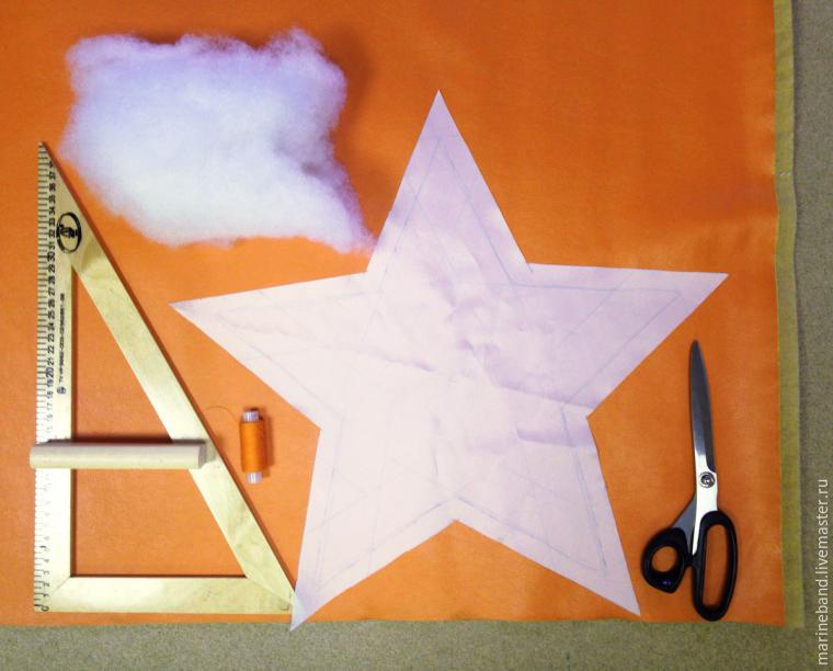 как сшить подушку звезду центр