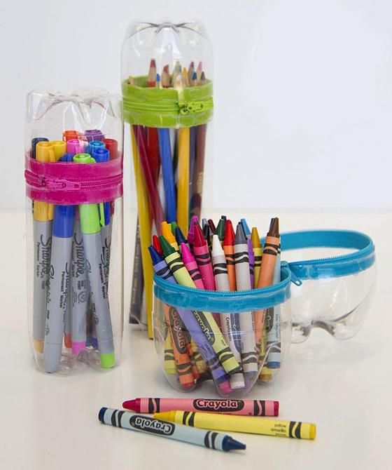 Подставка для карандашей своими руками из пластиковых фото 515