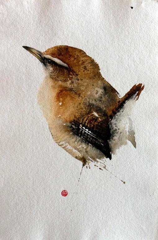 Птицы Карла Мартенса, акварель, птицы, Карл Мартенс, картины, художник