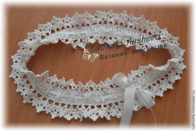 Подвязка невесты связать крючком