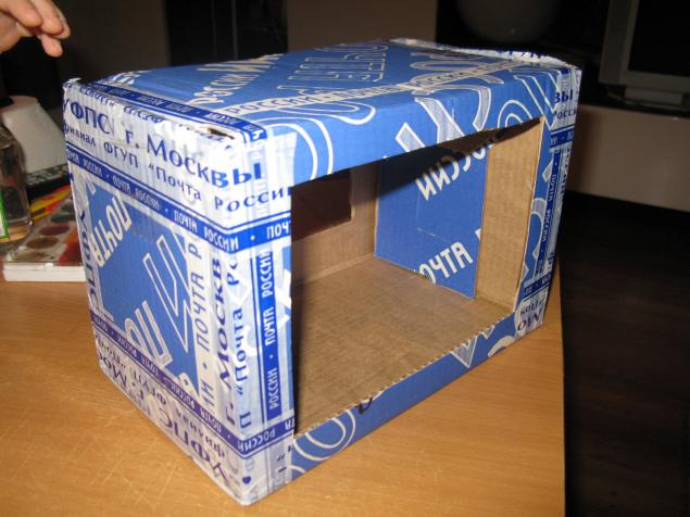 Сделать кормушку из коробки