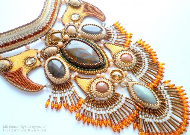 Бисер вышивка ожерелье