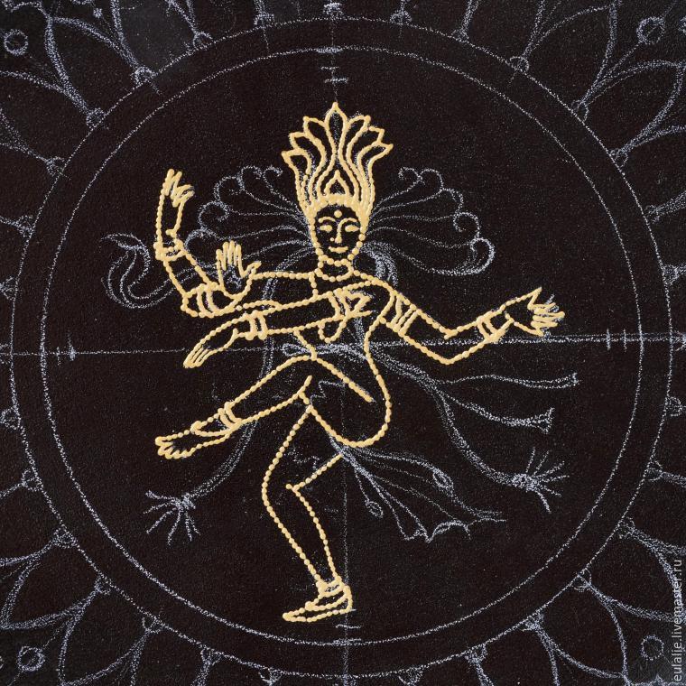 Мастер-класс по точечной росписи: тарелка-панно «танцующий Шива», фото № 6