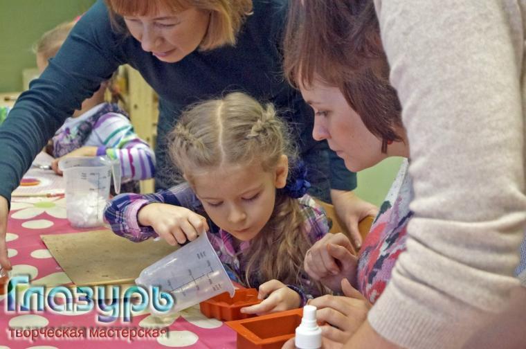 мыло, мастер-класс по мылу, творим с детьми