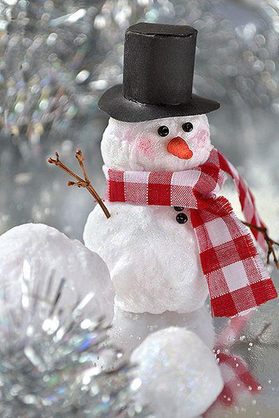 Как сделать снеговик из ваты своими руками