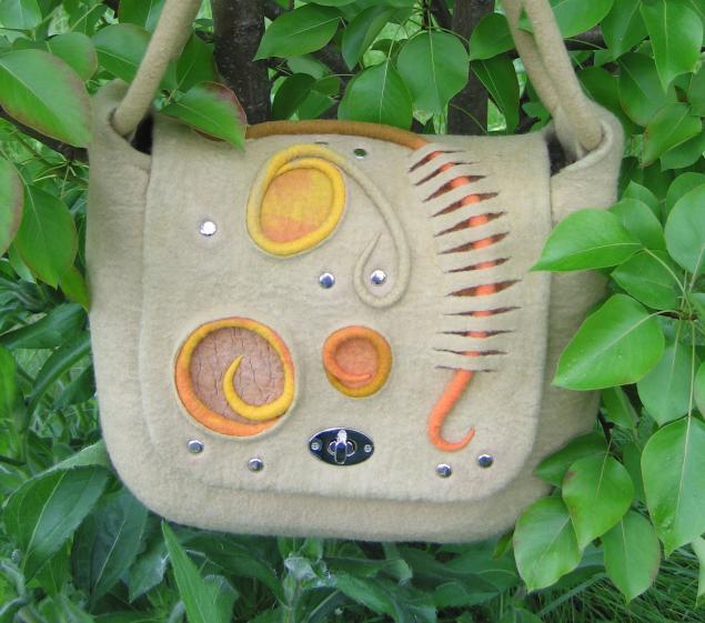 мк по валянию, мокрое валяние, мк по сумке, ольга ду, летняя сумка
