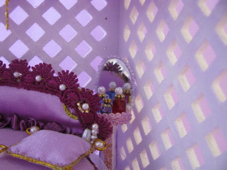 кукольный дом, сиреневая беседка