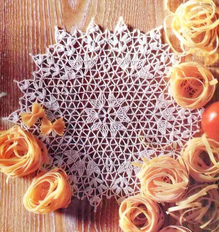 Отличное занятие для выходного дня: 20 схем для вязания салфеток крючком, фото № 27