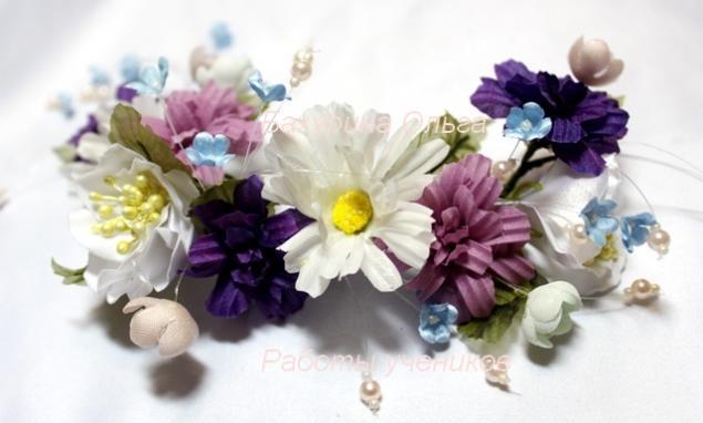 цветы из ткани, цветоделие, ромашки, цветы ручной работы