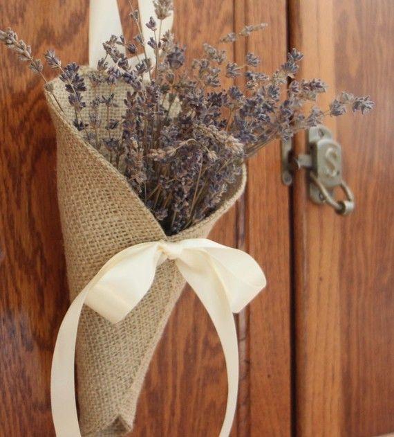 Поделки для декора из мешковины