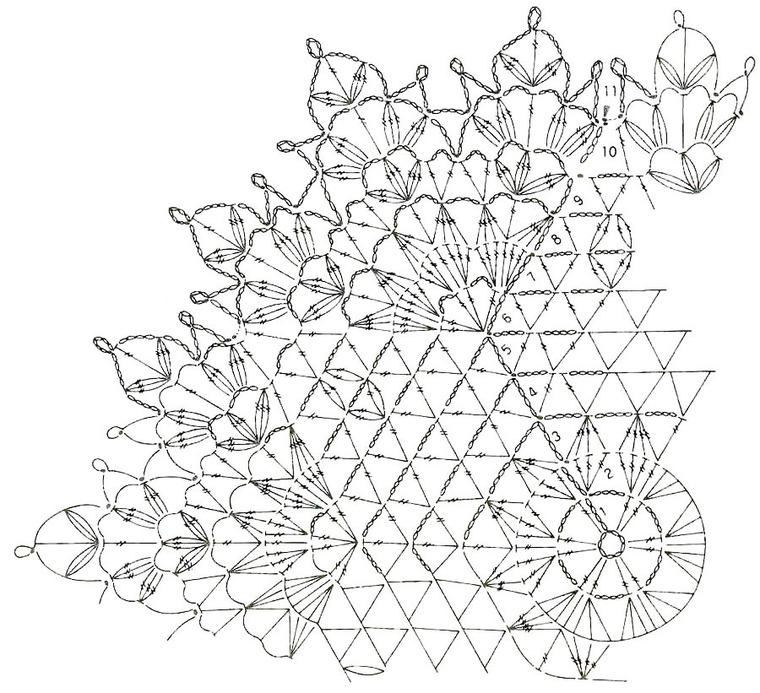 Отличное занятие для выходного дня: 20 схем для вязания салфеток крючком, фото № 28