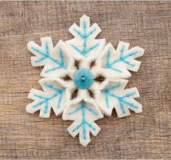 Снежинки из фетра как сделать