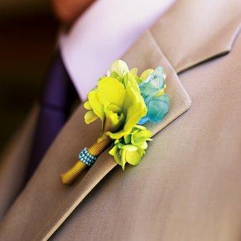 бутоньерка, свадебный костюм