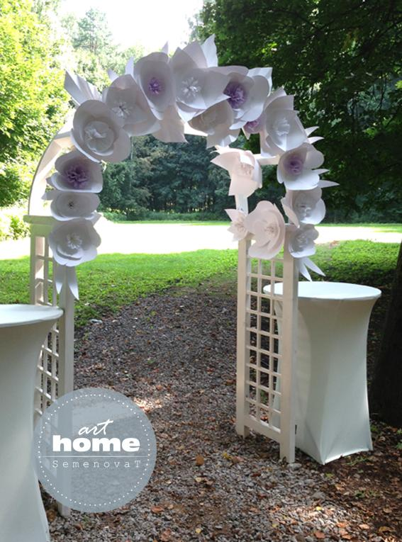 свадебное оформление, арка с цветами