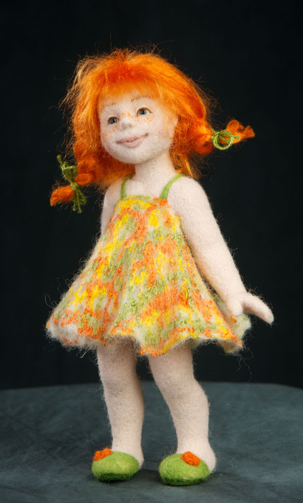 сухое валяние куклы, мастер-класс по валянию, мастер-класс, анна потапова, обучение, валяная кукла, кукла из шерсти, войлочная кукла, валяние куклы, рыжая кукла, веснушка, авторская техника