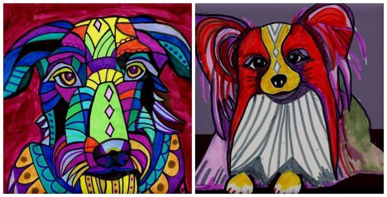 Психоделические собаки Heather Galler: невероятно яркие картины американской художницы, фото № 2
