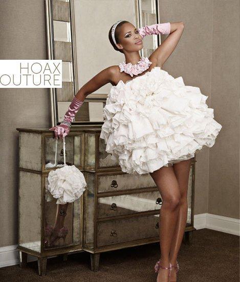 Платья с туалетной бумаги