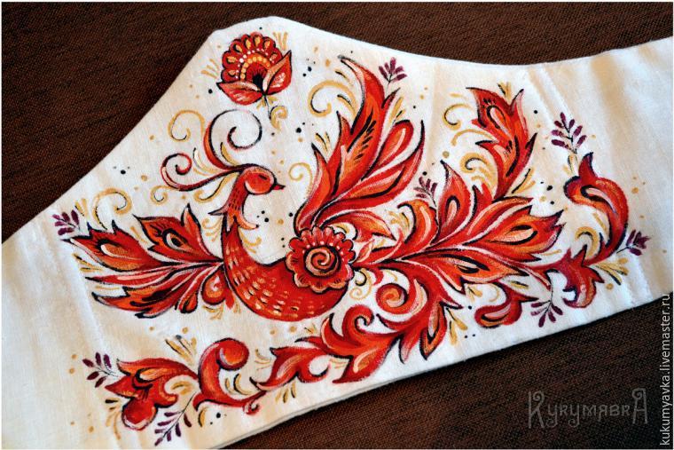 мастер-класс по росписи, птица