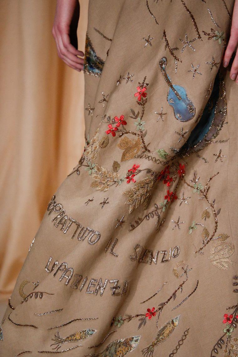 Вышивка на ткани кутюр
