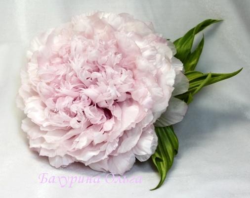 обучение цветоделию, украшения с цветами, пион, цветы ручной работы