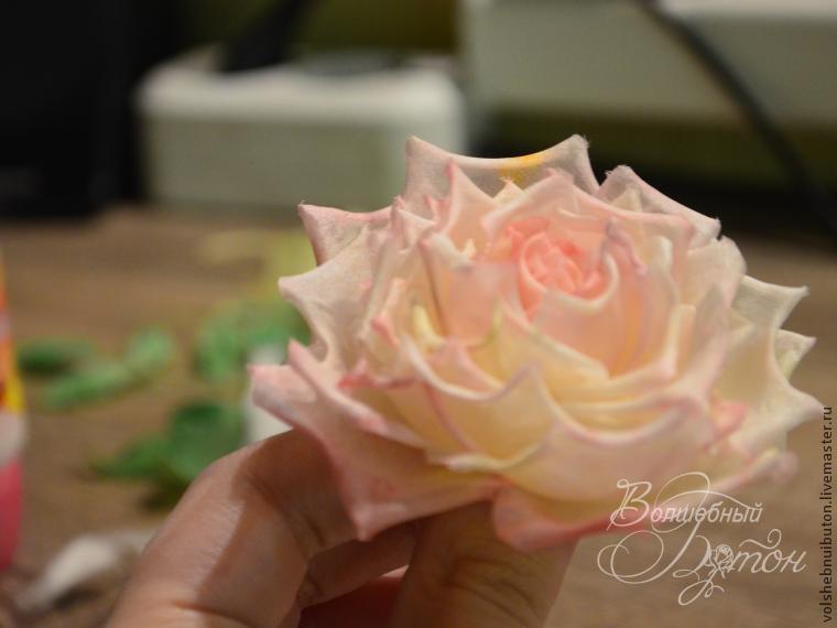Мастер класс роза из шелка своими руками