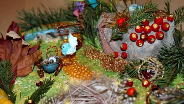 поделки, гнездо, сосна