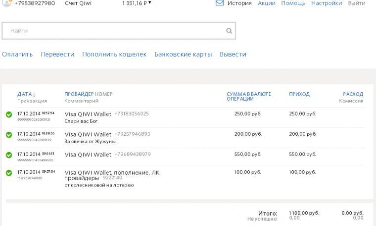Отчет о поступлении средств, за период с 14.10.14, фото № 10