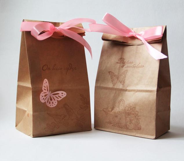 Как украсить пакет из крафт бумаги своими руками
