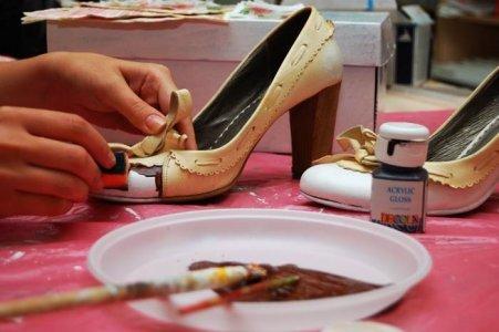 декупаж обуви