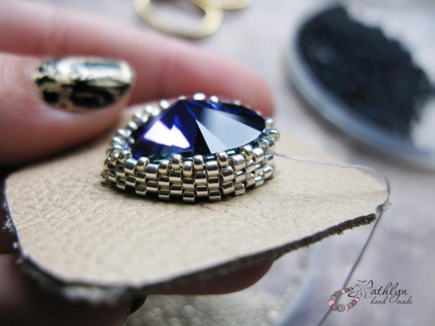 синий, кристаллы сваровски