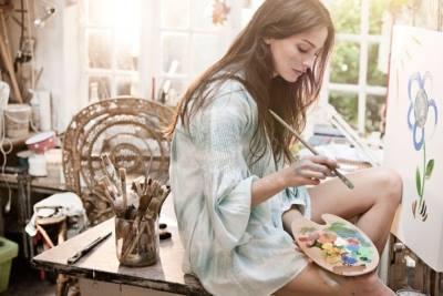 пейзаж, пальма, обучение рисованию, обучение живописи, натали котова, картина, кафе, акварель