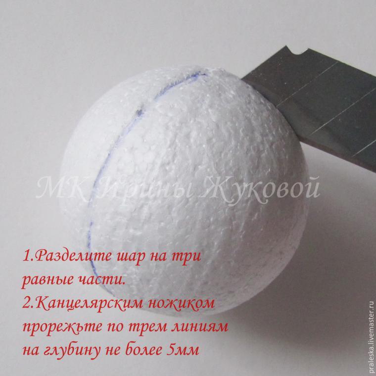 Делаем новогодние шары «Зимняя вишня», фото № 2