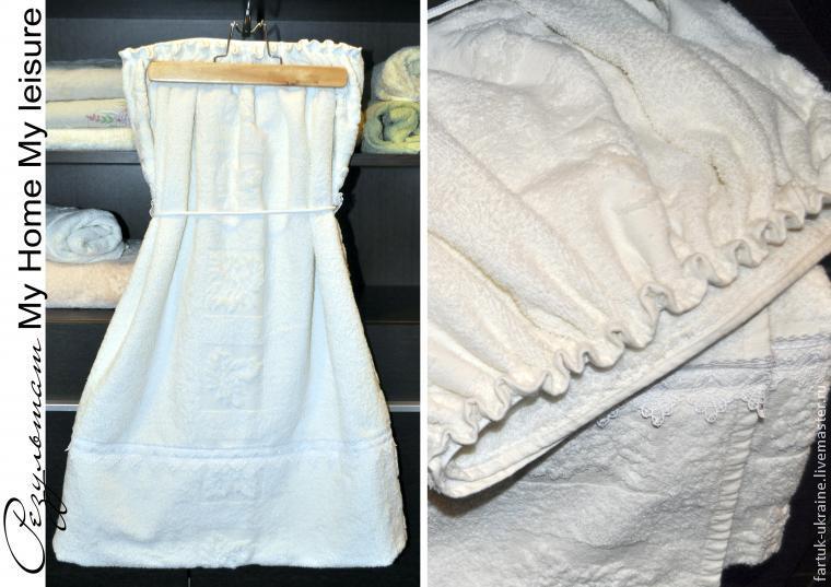 полотенце с кружевом