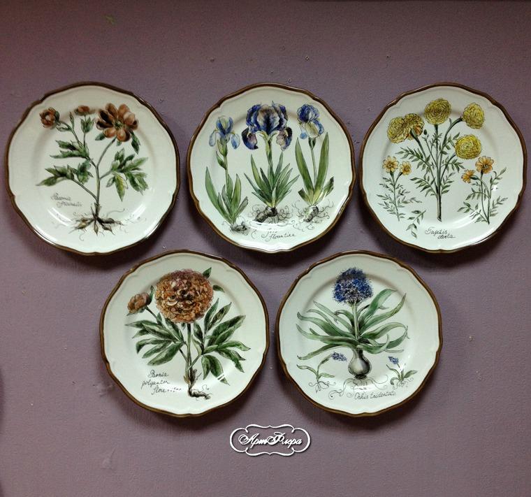 Декорирование стен тарелками, фото № 40