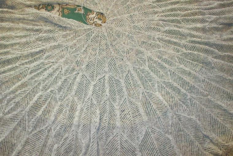 шаль ручной работы, кружевная шаль