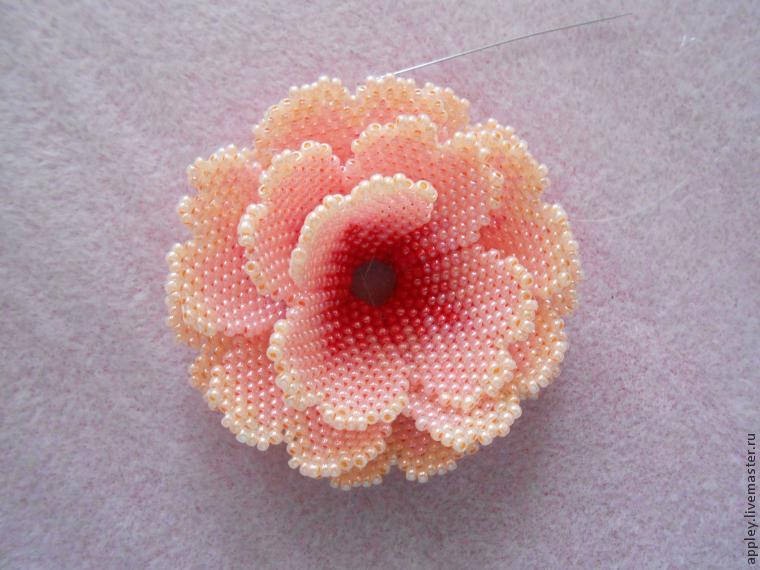 How to Make a Small Flower out of Beads, фото № 43
