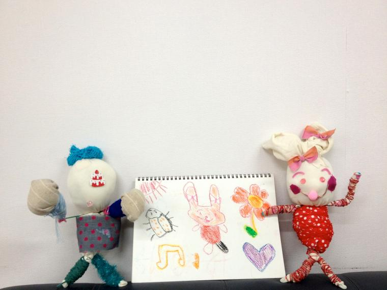 японская техника, кукла своими руками