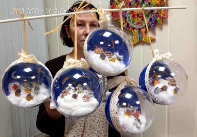 Как оформить новогодний шар своими руками