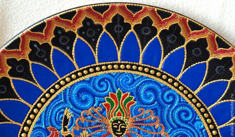 Мастер-класс по точечной росписи: тарелка-панно «танцующий Шива», фото № 16
