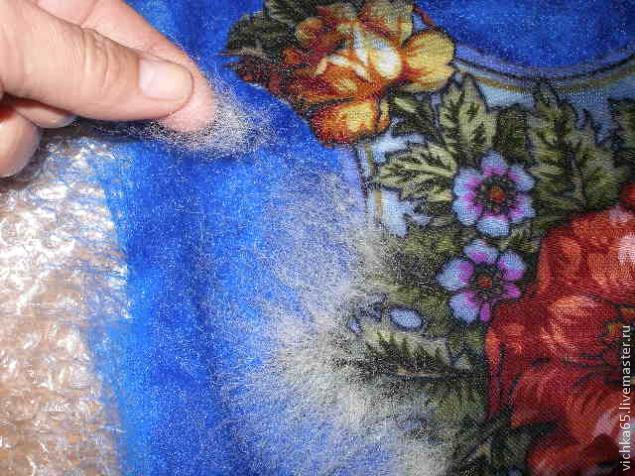 Валяние из шерсти платки