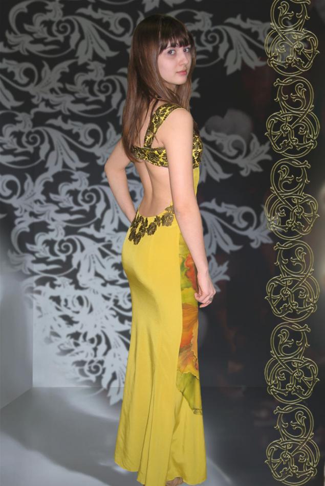 вечернее платье, авторская роспись