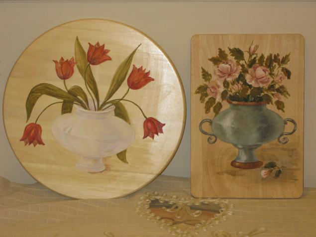 роспись мебели, вазы