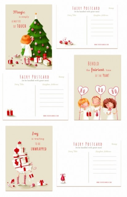 Holiday Fairy Postcards