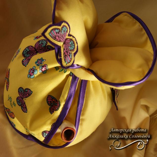 хранительница, столовый, чай, чайное тепло, аукцион сегодня, аукцион с нуля, аукцион сейчас, бабочки, жёлтый, фиолетовый, единственный экземпляр
