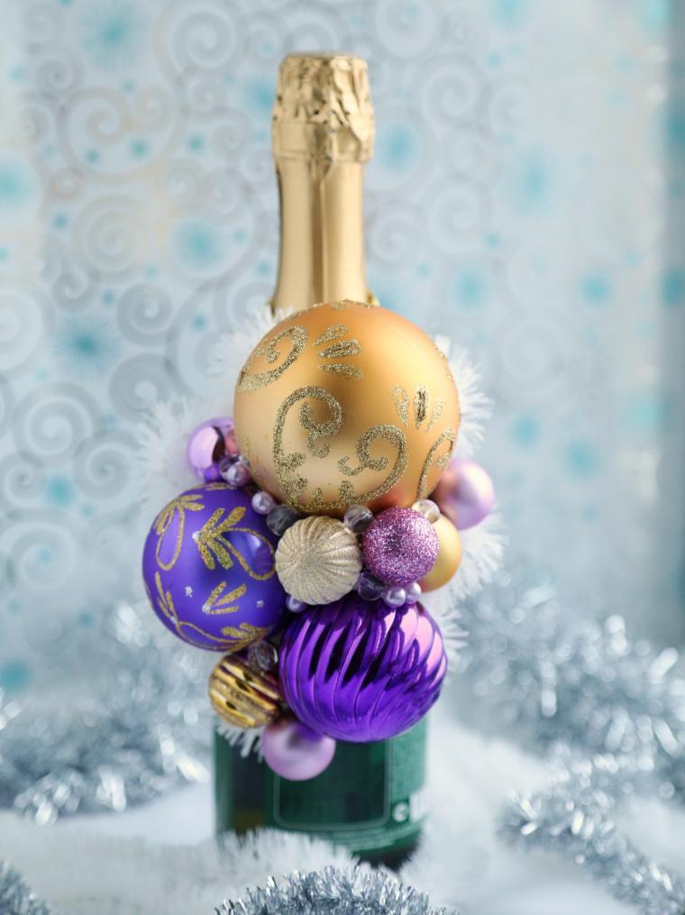 подарок на новый год, украшение стола, шик