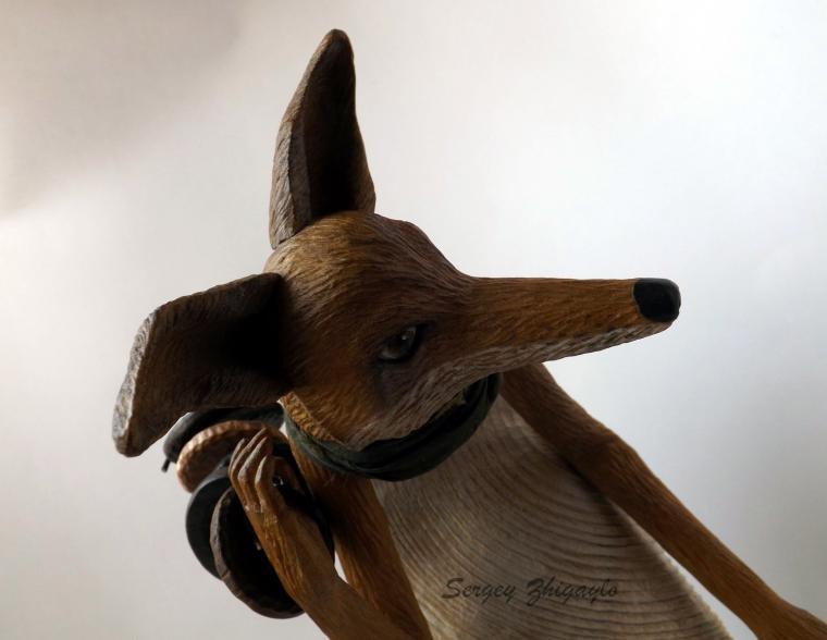 выставка, искусство куклы, лис, продавец пуговиц, сергей жигайло, кукла, куклы, деревянная, деревянные, из дерева, резьба, резная, резные, по дереву